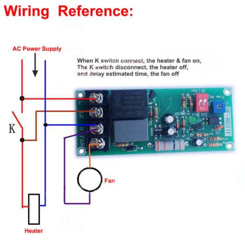 AC 110V 220V 230V 240V Delay Turn OFF Module Relay Timer Control Switchs
