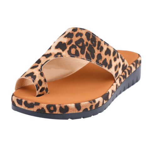 PU LEATHER Womens Comfy Platform Sandal Shoes Bunion Corrector  US