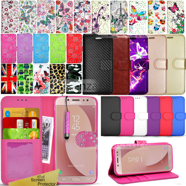 finest selection 52e5d 4b4f3 For SAMSUNG GALAXY J5 2017 J530 -Wallet Leather Case Flip Cover + Screen  Guard