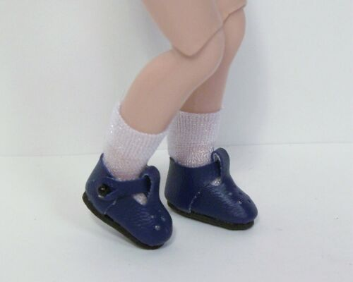 """NAVY BLUE Modern T-Strap Doll Shoes For Tiny 8/"""" Ann Estelle Betsy McCall Debs"""