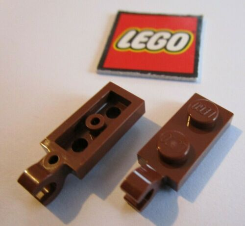 LEGO PLATE 1x2 with Horizontal Clip on End Design 63868 Packs of 8