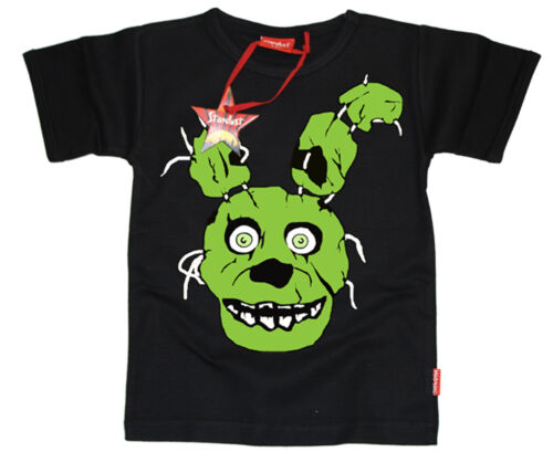 Five Nights at Freddys 3 Horror FNAF KIDS BONNIE SPRINGTRAP T-SHIRT BLACK