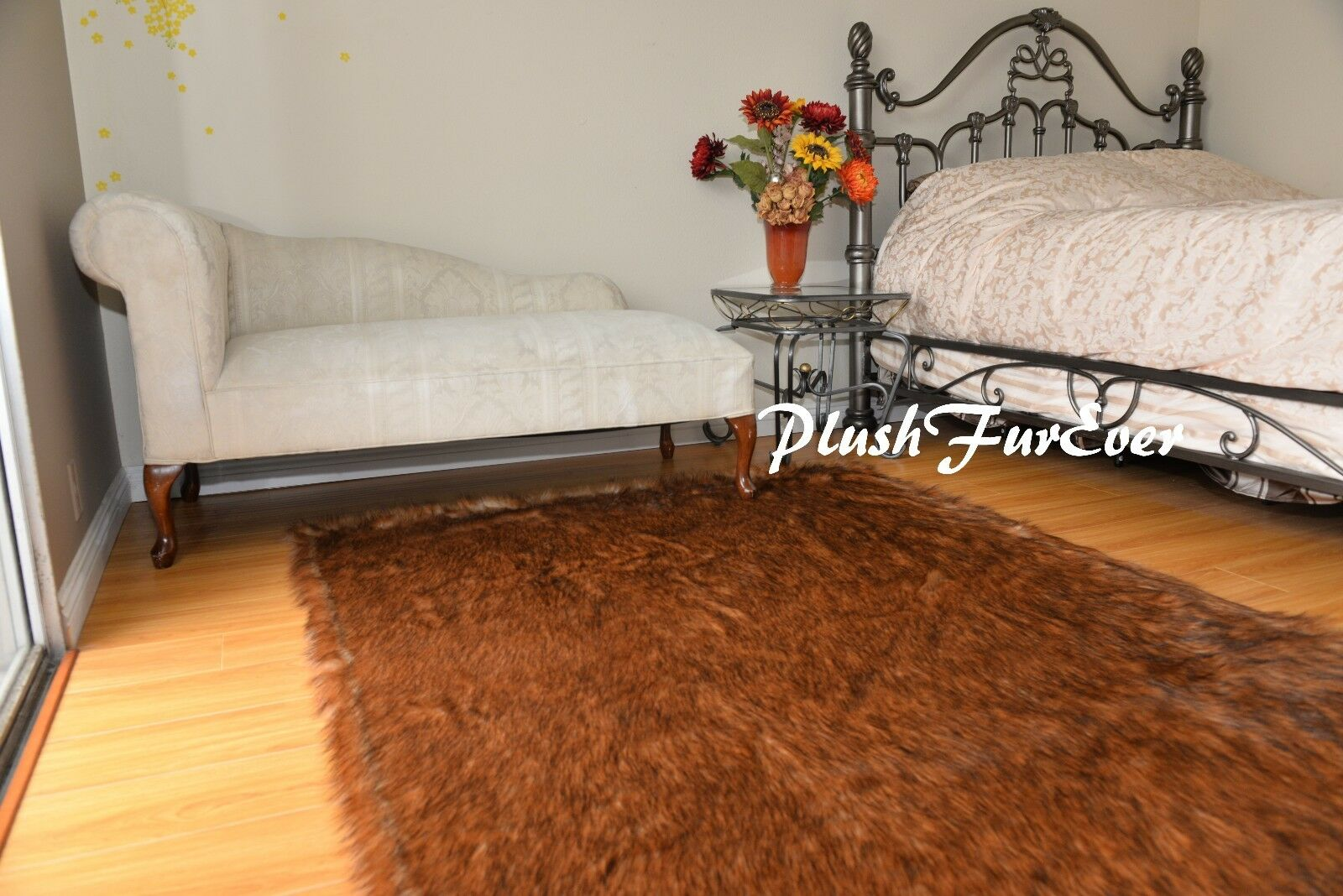 Grizzle Bearskin Rectangle Plush Plush Plush Area Rug Faux Fur Lodge Home Decors Shaggy Furs b4eae1