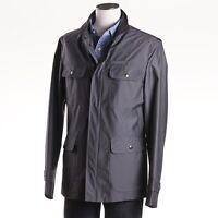 $2395 Isaia Napoli Gunmetal Gray Water-repellent Field Jacket M (eu 48)