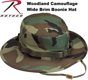 Image is loading Woodland-Camouflage-Military-Boonie-Hat-Bucket-Hat-Jungle- 37d5f92b2ccf