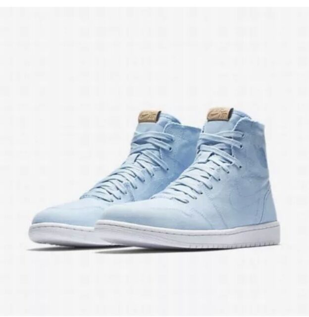 timeless design cf28f 8451c Nike Air Jordan 1 Retro High Decon Ice Blue Basketball Shoes Men's Size 12