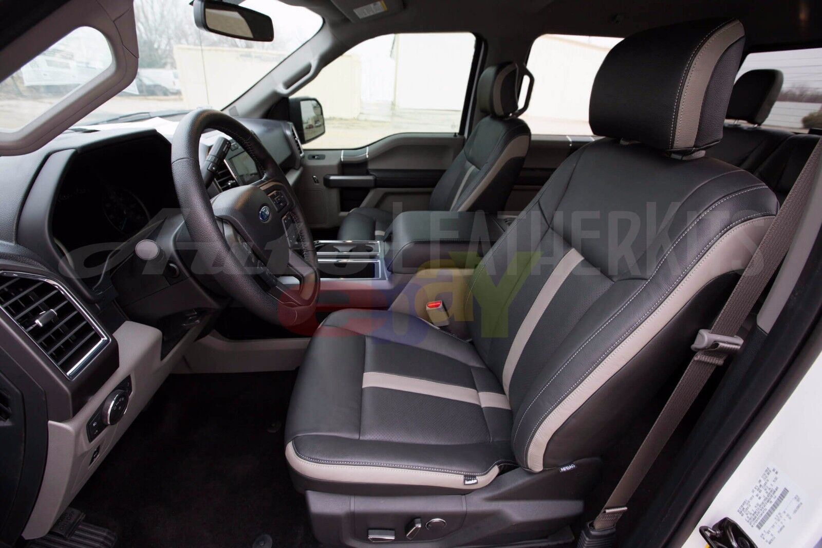 Amazing 2015 2017 Ford F 150 Supercrew Xlt Katzkin Leather Interior Seat Covers Bralicious Painted Fabric Chair Ideas Braliciousco
