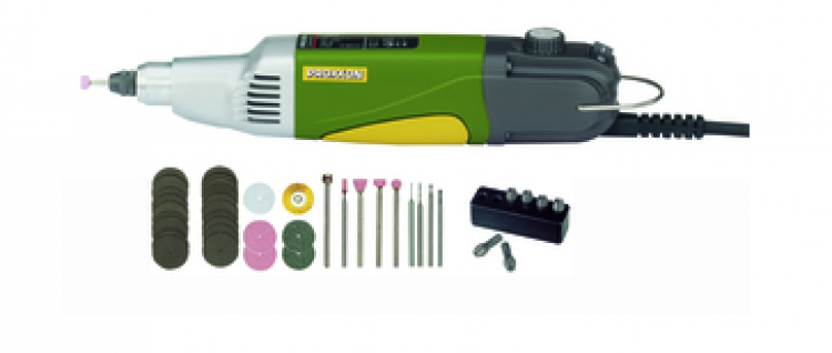 TRAPANO FRESATORE IBS/E 28481 PROXXON con 34 utensili