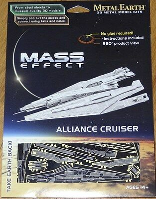 Details about  /Fascinations Metal Earth 3D Mass Effects ALLIANCE CRUISER *NEW SEALED*