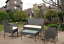 thumbnail 1 - GARDEN FURNITURE SET 4 PIECE RATTAN With SOFA TABLE & CHAIRS OUTDOOR PATIO SET