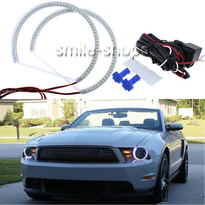 RGB Cotton LED Angel Eye Halo Ring KIT For Ford Mustang Non Projector 2010-2012