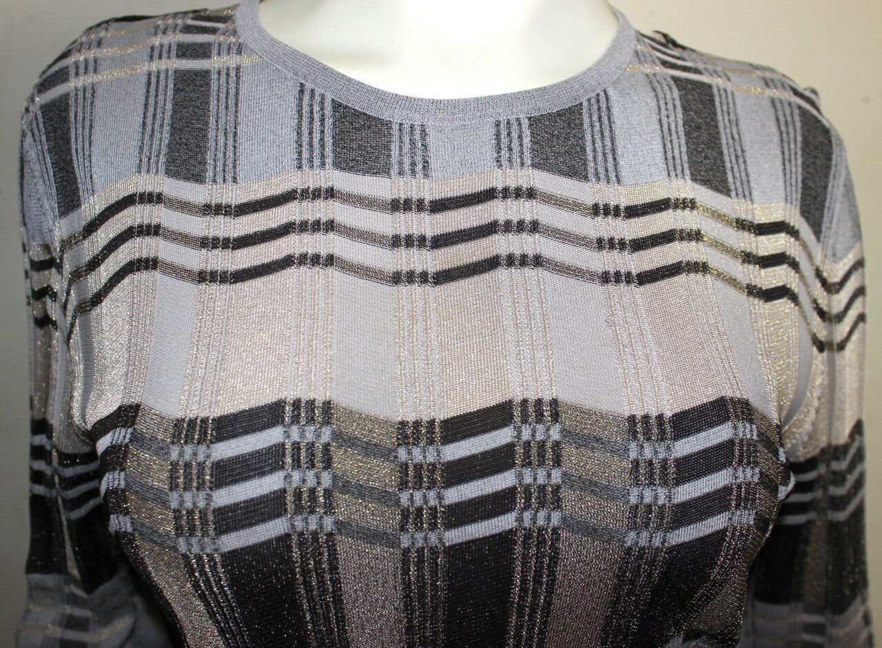 Bill Blass ribbing style style style metallic design sweater top XL  worn 3547db
