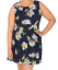 SAMYA-PLUS-SIZE-SLEEVELESS-DAISY-PRINT-SELF-TIE-PLEAT-DETAIL-A-LINE-DRESS-24 thumbnail 2