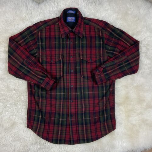Made in the USA 1960/'s Maroon and Blue Plaid Pendleton Lodge Shirt