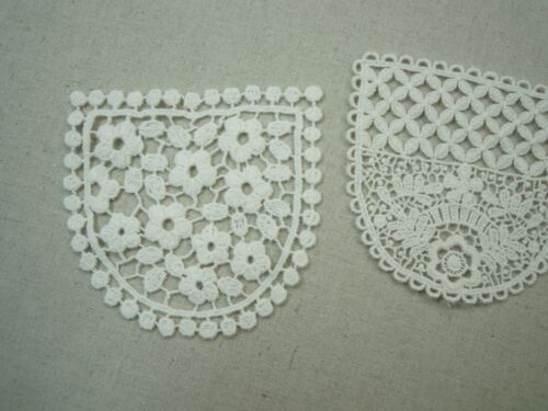 Antique St scalloped Embroidery Cotton Crochet Lace Flower Ribbion lovely pocket