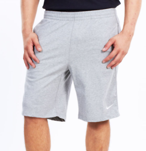 Details about Mens Nike Shorts Grey Jersey Breakline Fitness Gym 100%  Cotton UK L 2XL (VV)