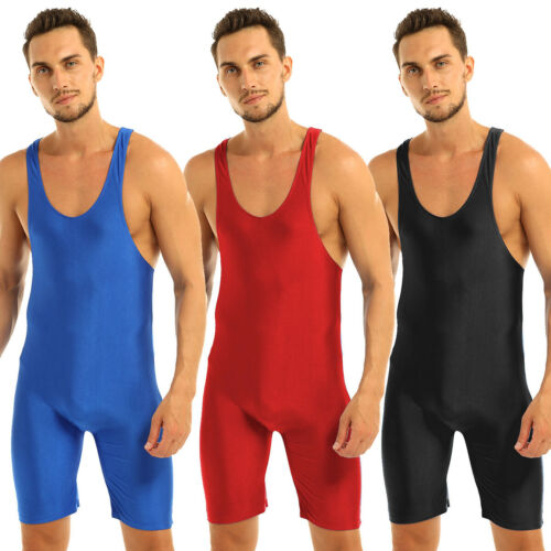 Men Singlet Bikini Bodysuit Thongs One Piece Leotard Tops Underwear Lingerie
