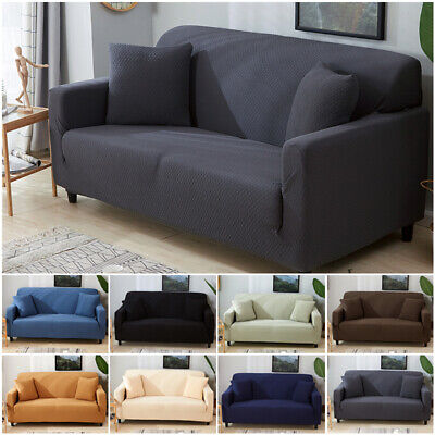 1 4 Seater Solid Color Sofa Cover