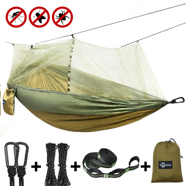 Double Person Travel Outdoor Camping Tent Hanging Hammock Bed With MosquitoLight