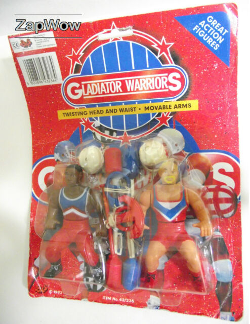 GLADIATOR WARRIORS 1990s BOOTLEG WRESTLING Action Figure Set Vintage Knock Off