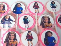 30 American Girl Cupcake Toppers Birthday Party Favors, Baby Shower Decoration