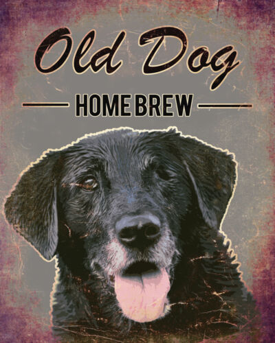Old Dog Brewery ADVERTISING ENAMEL METAL TIN SIGN WALL PLAQUE