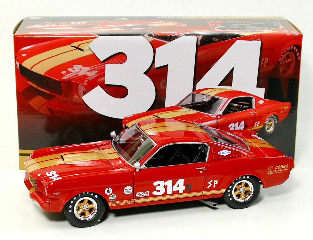 1/18 ACME  Ford Mustang Shelby GT350 H #314 Rent a Racer 1966 Red