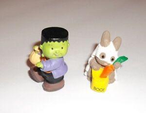Hallmark-Merry-Miniatures-Vintage-Halloween-Frankenstein-amp-Ghost-Trick-or-Treat