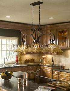 Image Is Loading Old World Tuscan Style 3 Light Kitchen Island