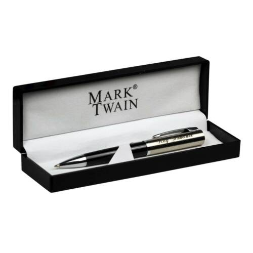 Kugelschreiber Mark Twain Chrissy Metall in Box mit Gravur Namen personalisiert