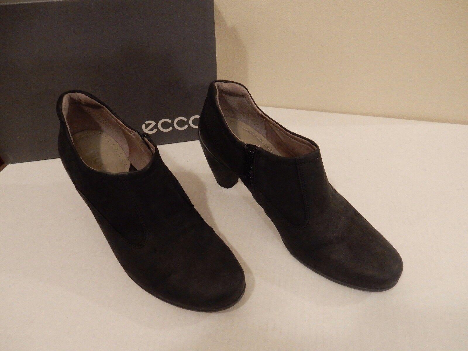 NEW ECCO SCULPTURE donna MID avvio COMFORT scarpe nero LEATHER 41 EU 10-10.5 US