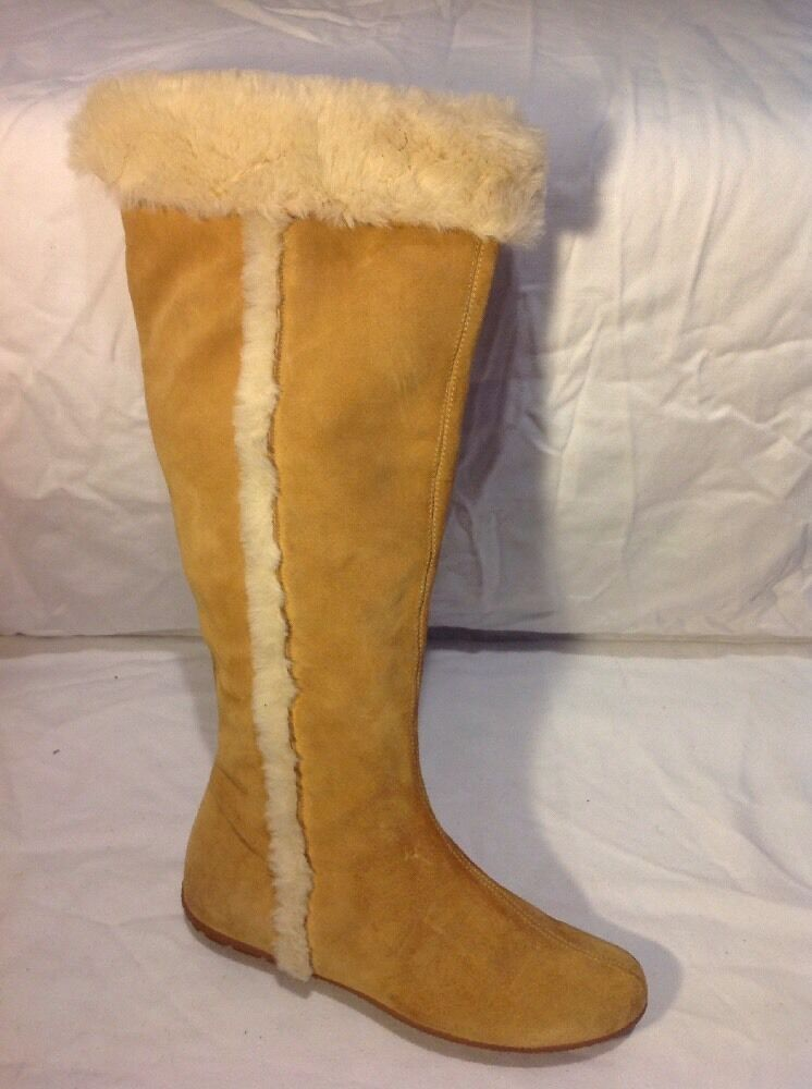Limited Collection Beige Knee High Suede Boots Size 3.5