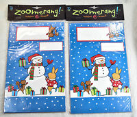 2 Package Zoomerang Kids Fill In Thank You Cards Fold Over Christmas Snowman