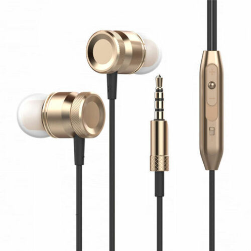Metal in ear headphones earphones with Remote Mic for Android Mobile Phone MP3