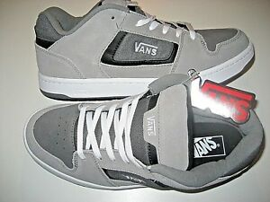 Vans-Mens-Docket-Grey-Charcoal-White-Suede-Skate-shoes-Size-7-VN000KWN1MF-NWT