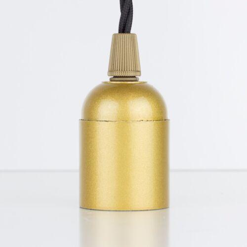 Art-Deco, Gold Bakelit Fassung Lampenfassung E27, mit Klemmnippel