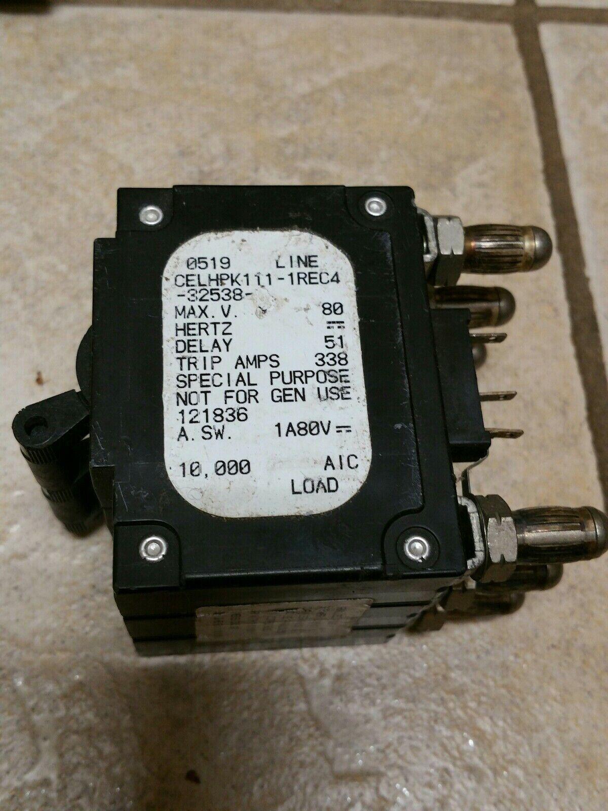 AIRPAX 250 AMP BULLET BREAKER CELHPK111-1REC4-32538-1 ~
