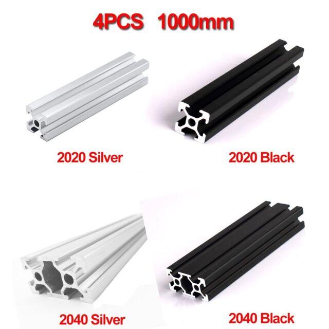Machifit 700mm Length Black Anodized 2040 T-Slot Aluminum Profiles Extrusion Fra