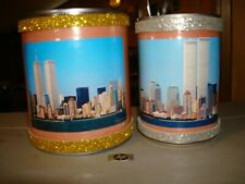 2 Ny Souvenir Pen Can Holders Twin Towers Time Office Supplies Desk Accessories