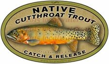 North Carolina NC Blue Line Decal//Sticker 6 x 2.6 Inches Native Trout Fishing