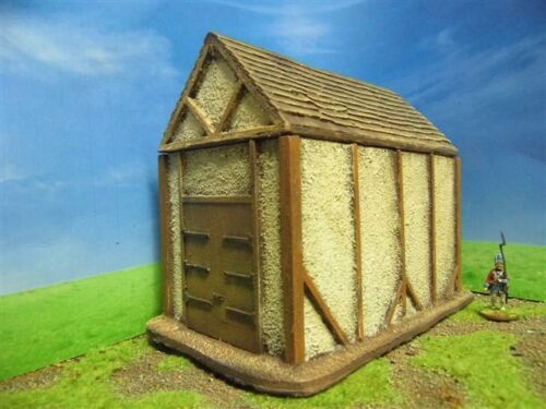 28MM PMC GAMES ME58 PAINTED LARGE BARN FIXED DOORS MEDIEVAL