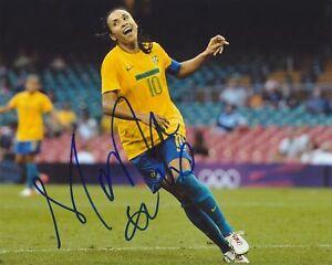 MARTA VIEIRA DA SILVA firmado equipo Brasil 8X10 Foto 2 | eBay