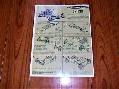 This vintage STROMBECKER GO KART INSTRUCTIONS SHEET 2 SIDED REPRODUCTION |  eBay