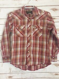 Rustler-By-Wrangler-Top-Size-Large-Western-Shirt-Pearl-Snap