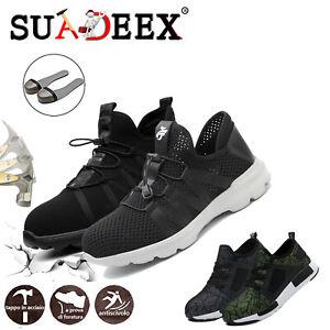 Dettagli su Scarpe antinfortunistica da lavoro S3 SRC uomo Donna Sneaker leggere traspiranti