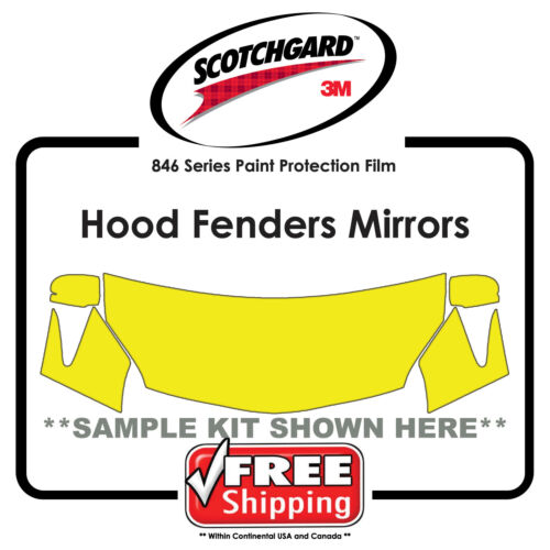Hood Fender Tips Mirror Kits for VW 3M 846 Scotchgard Paint Protection Film