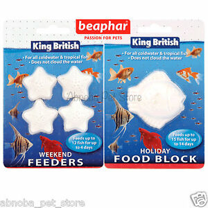 King british holiday food block or weekend fish feeder for Weekend fish feeder
