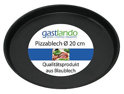 40 Stück Pizzablech Profiqualität Backform flach rund Ø 18 cm Gastlando