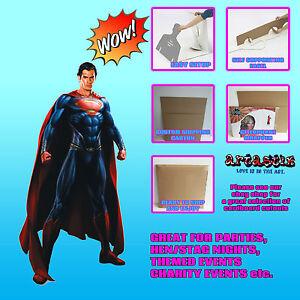 Man-Of-Steel-Superman-LIFESIZE-CARDBOARD-CUTOUT-STANDEE-STANDUP-Henry-Cavil
