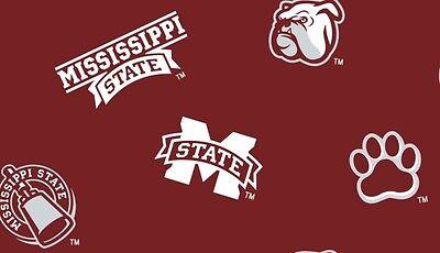 "Mississippi State University NCAA Fleece Fabric 50/"" Panel"
